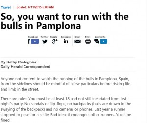 So, you want to run with the bulls in Pamplona